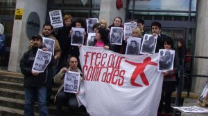 Manchester HOPI rally for imprisoned Iranian students - March 2009